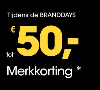 50 euro merkkorting